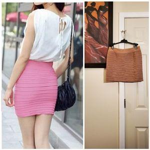 Dresses & Skirts - Horizontal Pleated Elastic Bodycon Skirt